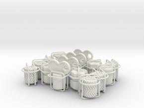 16 pack selection tire valve caps in White Natural Versatile Plastic