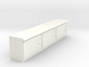 Rockin H Service Bed Cabinets in White Processed Versatile Plastic