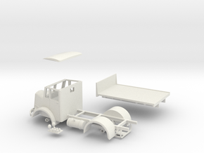 """1:43 Dennis c1946 Pax Cab & 9'6"""" W.B  Chassis  in White Strong & Flexible"""