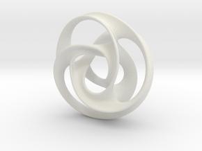 large trefoil mobius torus in White Strong & Flexible