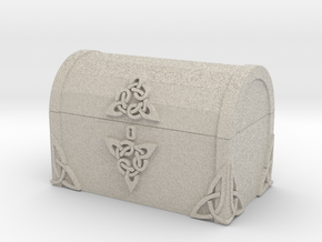 Celtic Treasure Chest in Natural Sandstone