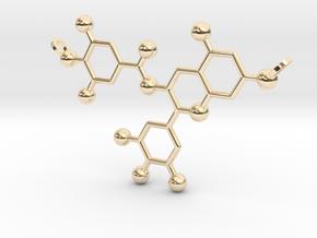 Green Tea Molecule in 14K Yellow Gold