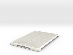 iPad Mini Lines Case in White Natural Versatile Plastic