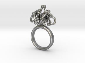 Sbosos 002 (7cm inner ring) in Natural Silver