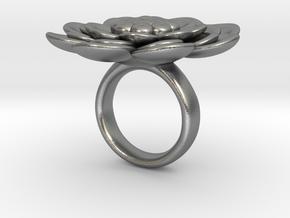 Sbosos 003 (6 cm inner ring) in Natural Silver