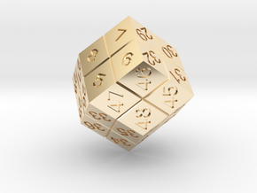 4 Player Start Order Die in 14K Yellow Gold