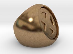 XMEN Ring in Natural Brass