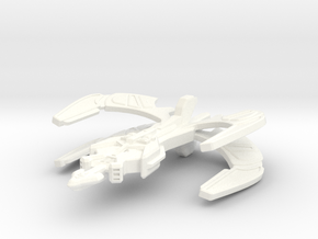 Klingon Monarch Class Transport in White Strong & Flexible Polished