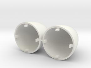 Falcon Heavy Nose Cones in White Natural Versatile Plastic: 1:200
