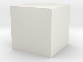 10mmcube-red-cross in White Natural Versatile Plastic