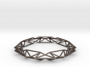 Queen of Diamonds Bracelet S (70mm) in Polished Bronzed Silver Steel