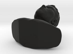 Bust Head04 in Black Strong & Flexible