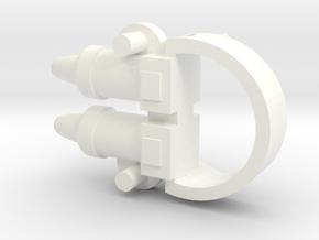 Mattel Battlestar Galactica Landram  Replacement C in White Processed Versatile Plastic