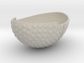 Bowl1GeminiSTL3mm in Natural Sandstone