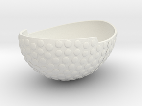 Bowl1GeminiSTL3mm in White Strong & Flexible