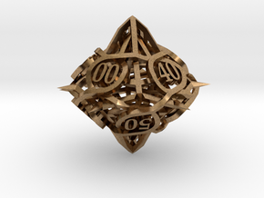 Thorn Die10 Decader Ornament in Natural Brass