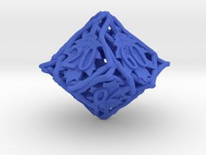 Botanical d10 Decader Ornament in Blue Processed Versatile Plastic