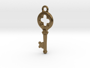 Key Pendant  in Natural Bronze