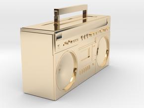 BOOMBOX in 14K Yellow Gold