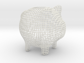 Squares Small in White Natural Versatile Plastic