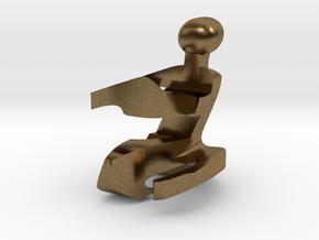 Minus One (-1) in Raw Bronze