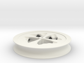 Fat Wheel in White Natural Versatile Plastic