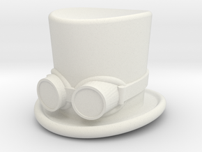 top hat and goggles 5cm solid in White Natural Versatile Plastic