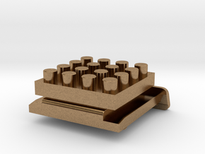 Nanobricks Hotshoe 4x4 in Natural Brass