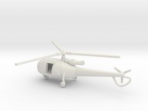 1:144 Alouette3 OPEN  TRANSPORT  in White Natural Versatile Plastic