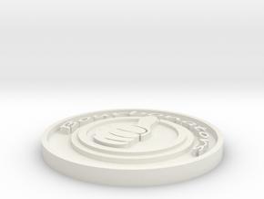 BourbonatorsCardCapv4thick in White Natural Versatile Plastic