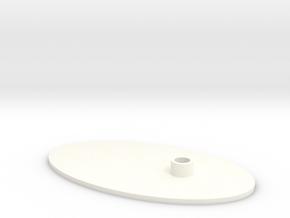 Flat Stand  in White Processed Versatile Plastic