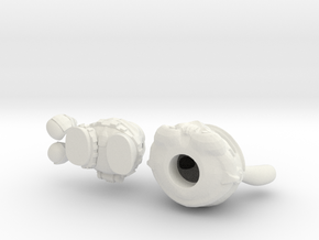 5 inch Trooper bunny  in White Natural Versatile Plastic