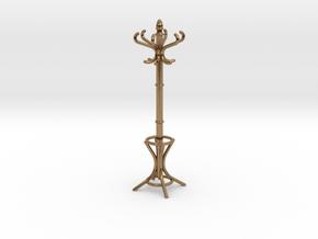 1:24 Miniature Coatrack in Natural Brass