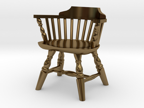1:24 Low Back Windsor Chair in Polished Bronze