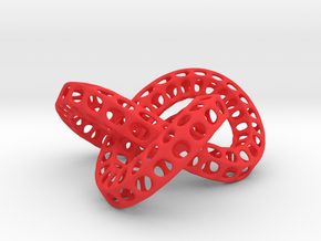 Triple Torus Knot in Red Processed Versatile Plastic