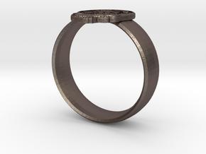 Custom Grateful Dead Ring in Polished Bronze Steel