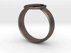 Grateful dead ring in Polished Bronze Steel