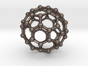 Buckyball Large in Polished Bronzed Silver Steel