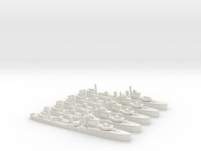 HMCS Saguenay (I79) Post Refit (River Class) 1/180 in White Natural Versatile Plastic