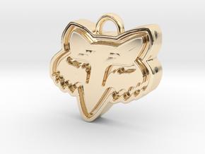 Charming Fox Racing Logo in 14K Yellow Gold