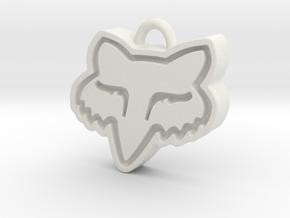 Charming Fox Racing Logo in White Natural Versatile Plastic