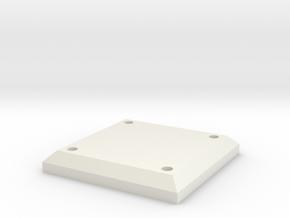Belt Plaque 4 in White Natural Versatile Plastic