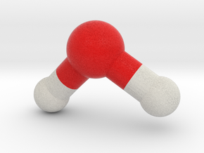 Water, H2O, Molecule Model in Full Color Sandstone