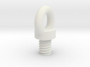 Safety Screw in White Natural Versatile Plastic