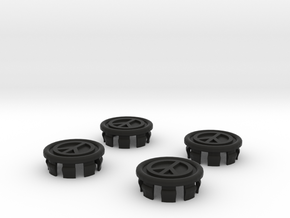 4 X Toyota Prius G2 Wheel Center Cap - Peace in Black Strong & Flexible
