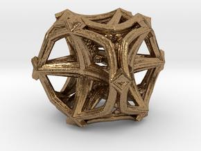 Fractal Cubic Star  MC4 in Natural Brass