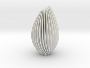 Twist Lamp in White Natural Versatile Plastic