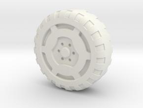 Rokenbok Snap-on Wheel in White Strong & Flexible