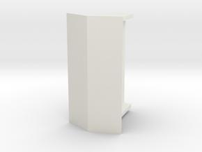 Abri Enkel Op Schaal 87 Gedraaid in White Natural Versatile Plastic