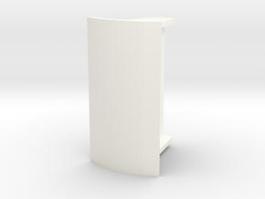 Abri 87 Enkel Rond Dak in White Processed Versatile Plastic